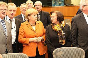 Godelieve Quisthoudt-Rowohl - Quisthoudt-Rowohl with Angela Merkel