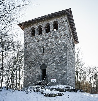 Upper Germanic-Rhaetian Limes - Roman tower (reconstruction) - Ober-Mörlen / Taunus (Section 4)