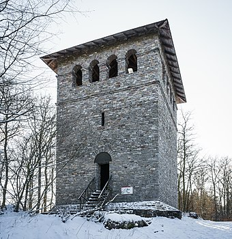 Roman tower (reconstruction) at Limes - Taunus / Germany Romerturm, Auf dem Gaulskopf.jpg