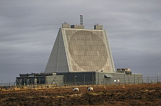 No. 11 Group RAF - The Solid State Phased Array Radar System at RAF Fylingdales in North Yorkshire, part of the UK/US Ballistic Missile Early Warning System.