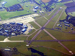 Aerial view of RAF Lyneham during 2010.