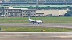 ROCAF Fokker 50 5001 Taxiing at Songshan AFB Runway 20120707.jpg