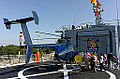 ROCN Hughes 500 6910 Carried on Lan Yang (FFG-935) Helicopter Deck Rear Right View 20141123.jpg