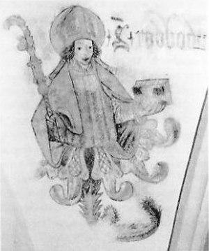 Radboud of Utrecht - Image of Bishop Radboud in the Broerenkerk in Zwolle