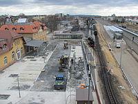 Radebeul Bahnhof Radebeul Ost 2013 Bauarbeiten 03.JPG