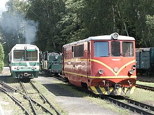 Jindřichohradecké místní dráhy - M 27 railcar and T 47 diesel locomotive