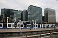 "Railway-Metro station Amsterdam-Zuid next to the business district ""dee Zuidas"" with WTC towers - panoramio.jpg"