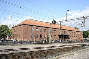 Railway station in Lahti of Finland