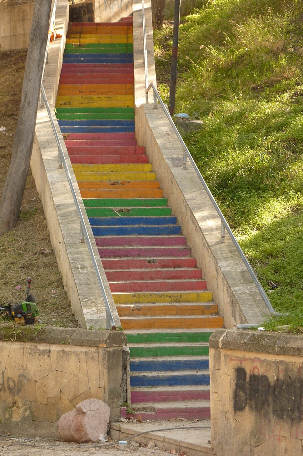 Rainbow steps in Kyrenia