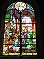 Raismes (Nord, Fr) Église Saint-Nicolas, vitrail 10.JPG