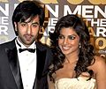 Ranbir Kapoor and Priyanka Chopra at GQ Men Awards 2010.jpg