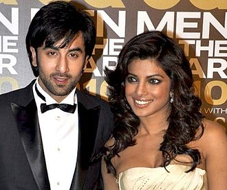 Ranbir Kapoor - Kapoor with his Anjaana Anjaani co-star Priyanka Chopra in 2010