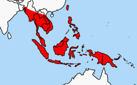 Polynesian rat range in Southeast Asia (in red)