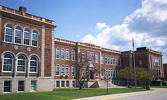 Ravenna High School (Ohio) - The previous home of Ravenna High School from 1923–2010. It was demolished in 2013.