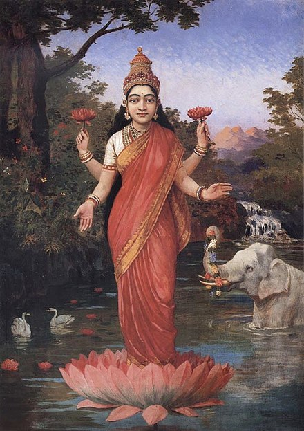 Diwali is celebrated in the honour of Lakshmi, the goddess of wealth. - Diwali