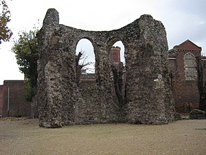 English: Reading Abbey Part of the Abbey ruins...