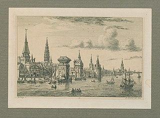 Redezicht op Antwerpen van de Werfpoort tot aan de Sint-Michielsabdij