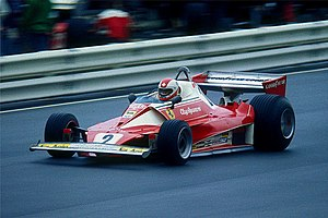 Clay Regazzoni - Regazzoni driving the Ferrari 312T at the Nürburgring in 1976