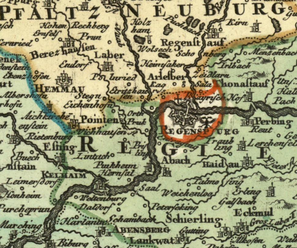 Regensburg Homann 1728