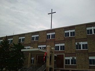 Regina Mundi Catholic College - Image: Regina mundi catholic school main entrance