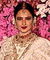 Rekha at Akash Ambani wedding reception 2019.jpg