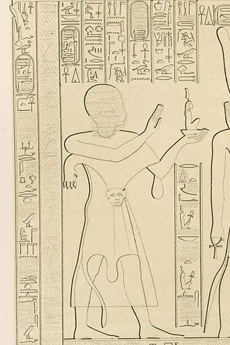 Osorkon III - A relief depicting Osorkon in his early career, when he was the High Priest of Amun during the reign of his father Takelot II. The relief also bears his ancestry as a son of queen Karomama II, daughter of Nimlot C, son of Osorkon II.