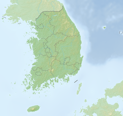 Location map/data/South Korea is located in เกาหลีใต้