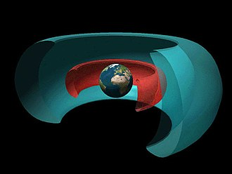 Cutaway drawing - Image: Rendering of Van Allen radiation belts of Earth 2
