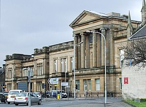 Renfrewshire (historic) - Former County buildings of Renfrewshire, now Paisley Sheriff Court.