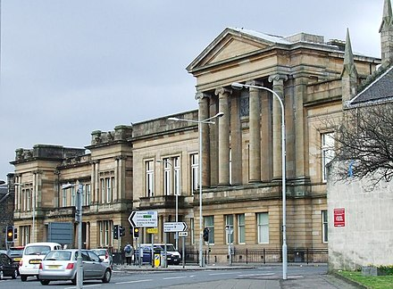 Paisley Sheriff Court and former County Buildings Renfrewshire county.jpg