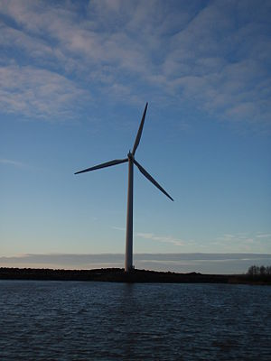 English: Wind power in Reposaari. Suomi: Ravin...