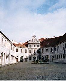 Courtyard in the Munich Residenz , Bavaria .