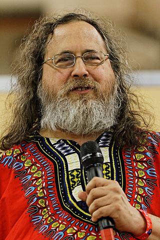 Richard Stallman à la Fête de l'Humanité 2014 (par Thesupermat)