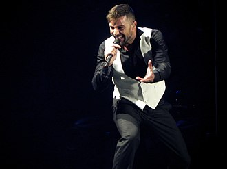 Ricky Martin singles discography - Martin performing during the Música + Alma + Sexo World Tour in 2011