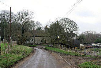 Ridley, Kent - Parish church of Ridley, a small church without tower or steeple, situated in agricultural land, there being no nucleated village