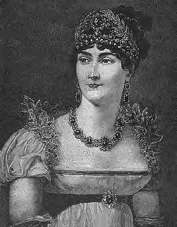English: Empress Josephine. Prominent in Paris...