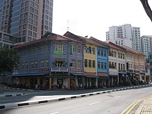 River Valley, Singapore - Eateries in pre-war shophouses along River Valley Road offer local delicacies. Note: A number of these buildings have been demolished to make way for a new condominium.