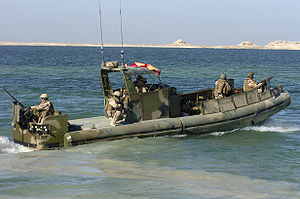 Navy Expeditionary Combat Command - Sailors of US Navy Riverine Squadron 2 patrol waters near Haditha Dam, Anbar Province, Iraq