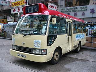 Public light bus - A red Public Light Bus