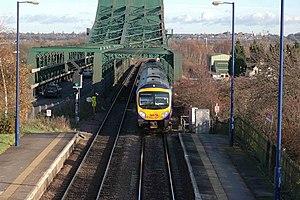 South Humberside Main Line - SHML crosses the River Trent at Keadby Bridge