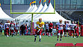 Robert Griffin III throwing Training Camp 2013 RVA Redskins.jpg