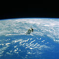 Robert L. Stewart, hanging above the Earth - DF-SC-84-10569.jpg