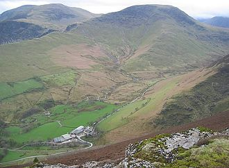 Robinson (Lake District) - Robinson seen from the Ard Crags ridge, with Hindscarth to the left
