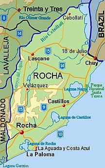 Rocha Department-Population and Demographics-Rocha Department map