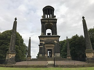 The Rockingham Mausoleum Historic mausoleum near Rotherham, England