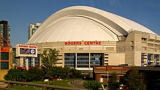 The Rogers Centre is a multi-purpose stadium that is operated by the company Rogers Centre (8028252192).jpg
