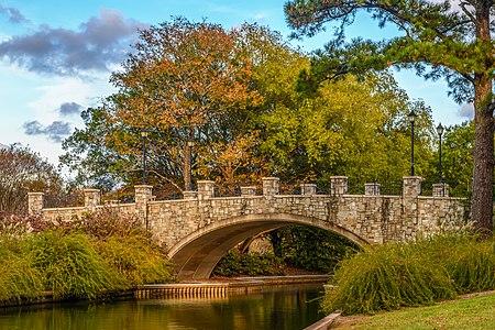 Bridge from Rose Garden to NATO Vista at Norfolk Botanical Garden