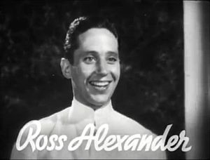Ross Alexander - Ross Alexander in the trailer for Shipmates Forever in 1935