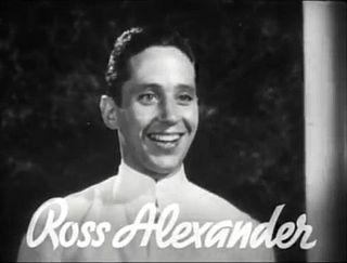 Ross Alexander actor
