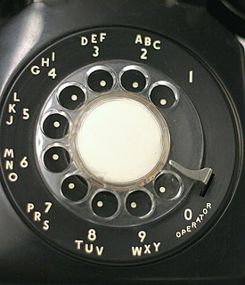 Rotary dial Component that allows dialing numbers